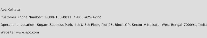 Apc Kolkata Phone Number Customer Service