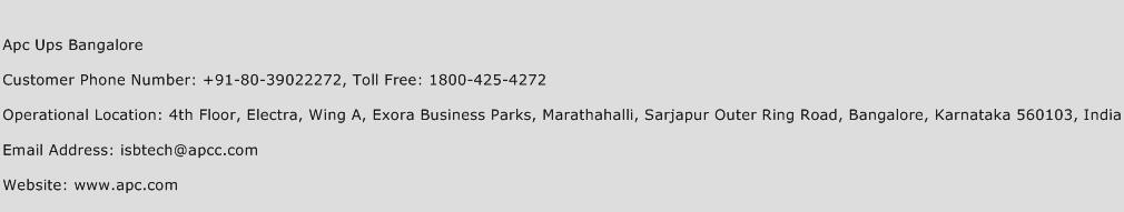 Apc Ups Bangalore Phone Number Customer Service