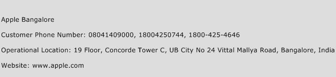 Apple Bangalore Phone Number Customer Service