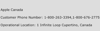 Apple Canada Phone Number Customer Service