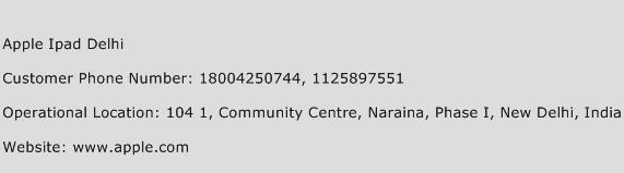 Apple Ipad Delhi Phone Number Customer Service