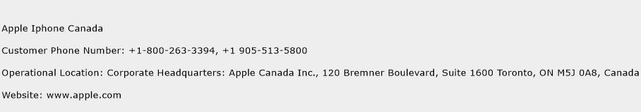 Apple Iphone Canada Customer Service Phone Number | Contact Number ...