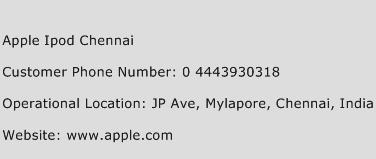 Apple Ipod Chennai Phone Number Customer Service