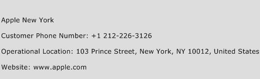 Apple New York Phone Number Customer Service