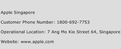 Apple Singapore Phone Number Customer Service