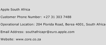 Apple South Africa Phone Number Customer Service