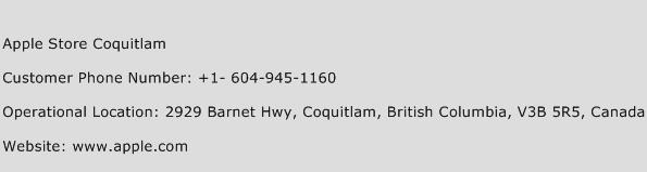 Apple Store Coquitlam Phone Number Customer Service