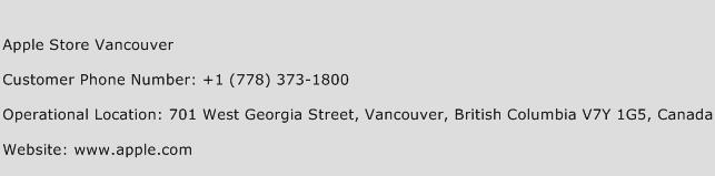 Apple Store Vancouver Phone Number Customer Service