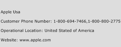 Apple Usa Phone Number Customer Service