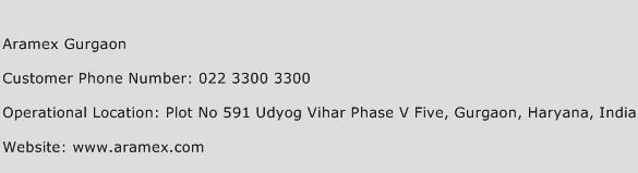 Aramex Gurgaon Phone Number Customer Service
