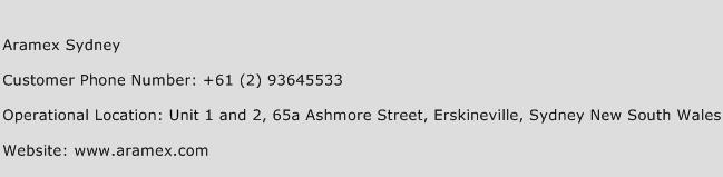 Aramex Sydney Phone Number Customer Service