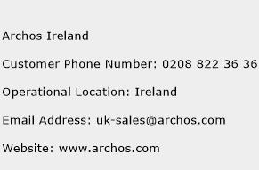 Archos Ireland Phone Number Customer Service