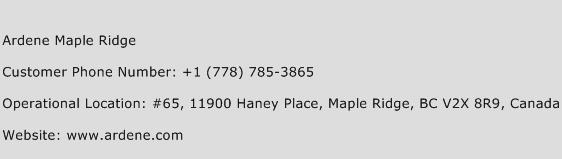Ardene Maple Ridge Phone Number Customer Service