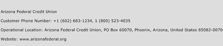 Arizona Federal Credit Union Phone Number Customer Service
