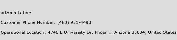 Arizona Lottery Phone Number Customer Service