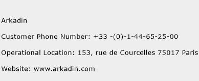 Arkadin Phone Number Customer Service