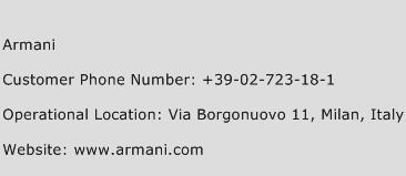 Armani Phone Number Customer Service