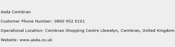 Asda Cwmbran Phone Number Customer Service