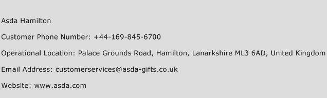 Asda Hamilton Phone Number Customer Service