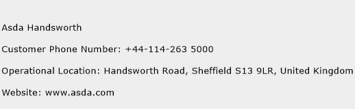 Asda Handsworth Phone Number Customer Service