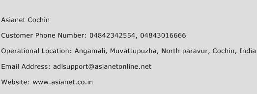 Asianet Cochin Phone Number Customer Service