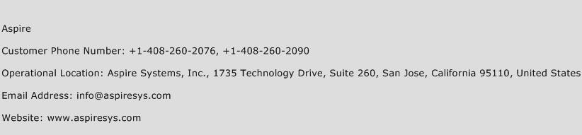 Aspire Phone Number Customer Service