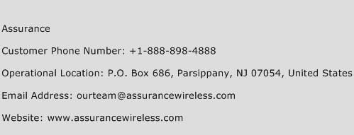Assurance Phone Number Customer Service