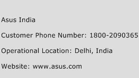 Asus India Phone Number Customer Service
