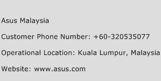 Asus Malaysia Phone Number Customer Service