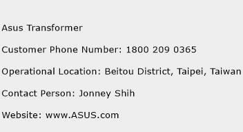 Asus Transformer Phone Number Customer Service