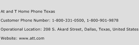 At and T Home Phone Texas Phone Number Customer Service