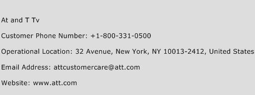 At and T TV Phone Number Customer Service