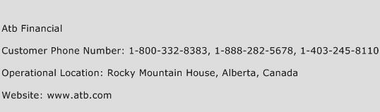 Atb Financial Phone Number Customer Service