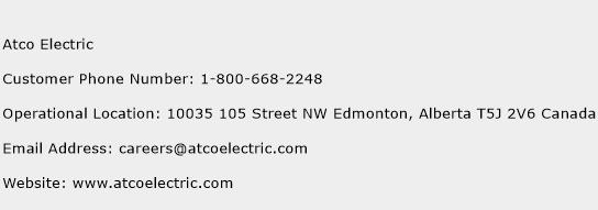 Atco Electric Phone Number Customer Service