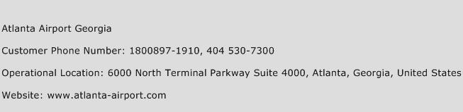Atlanta Airport Georgia Phone Number Customer Service