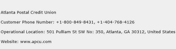 Atlanta Postal Credit Union Number Atlanta Postal Credit Union