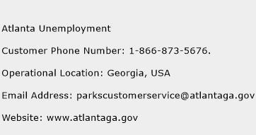 Atlanta Unemployment Phone Number Customer Service