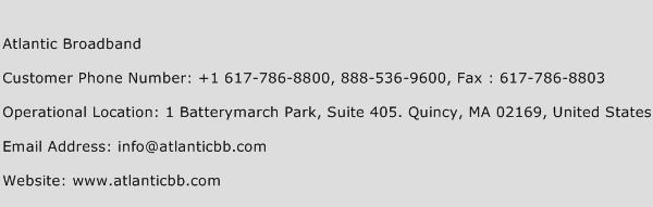 Atlantic Broadband Phone Number Customer Service