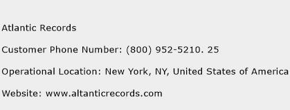 Atlantic Records Phone Number Customer Service