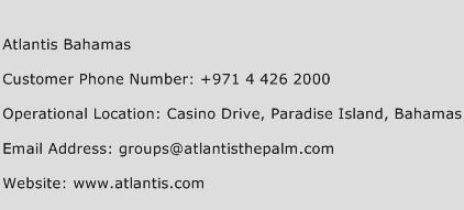 Atlantis Bahamas Phone Number Customer Service