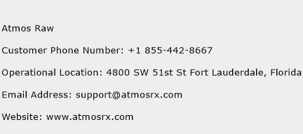 Atmos Raw Phone Number Customer Service