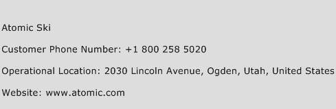 Atomic Ski Phone Number Customer Service