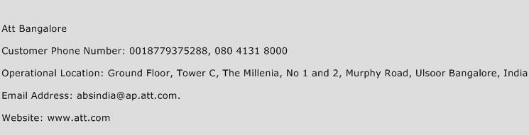 Att Bangalore Phone Number Customer Service