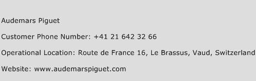 Audemars Piguet Phone Number Customer Service