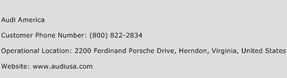 Audi America Phone Number Customer Service