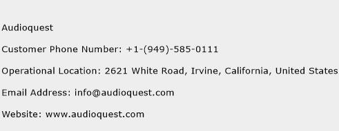 Audioquest Phone Number Customer Service