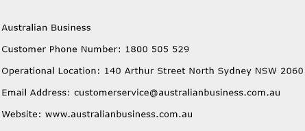 Australian Business Phone Number Customer Service