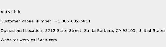Auto Club Phone Number Customer Service