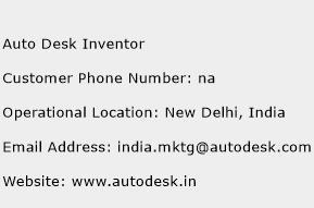Auto Desk Inventor Phone Number Customer Service