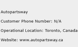 Autopartsway Phone Number Customer Service